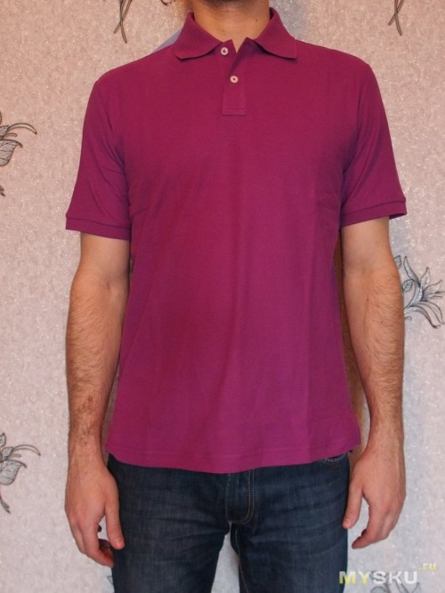 Solid Pique Polo Violet - front