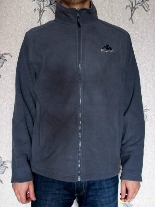 Arthur Stand Collar Fleece Jacket Gray front