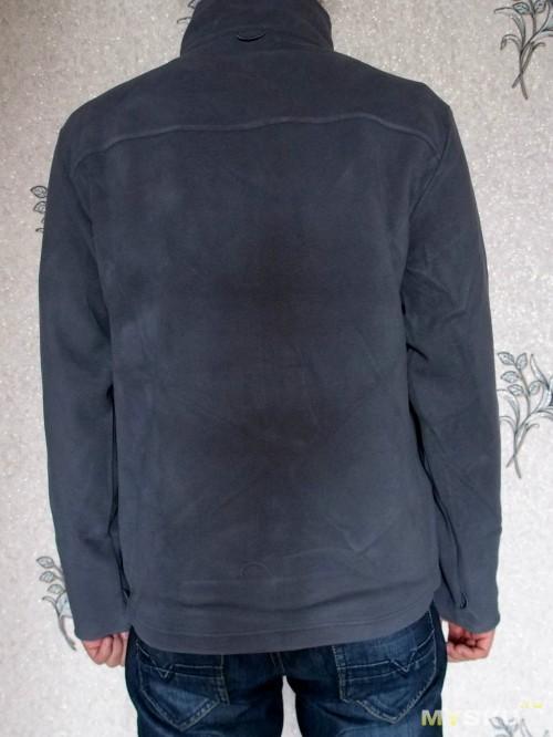 Arthur Stand Collar Fleece Jacket Gray back