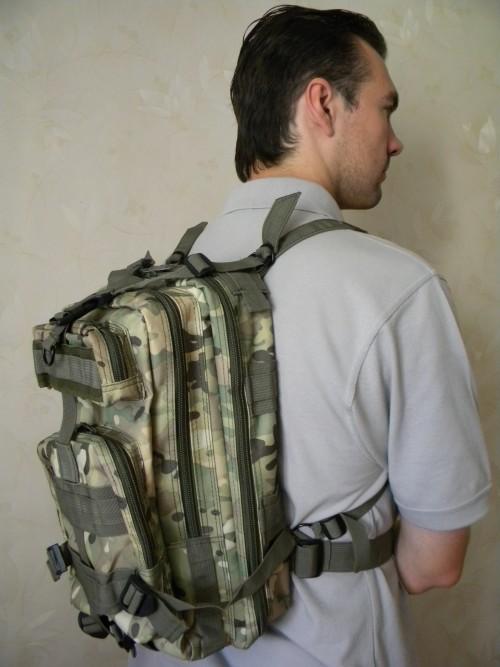 Вид одетого рюкзака