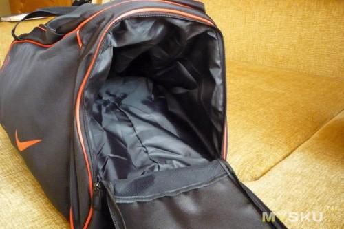 f5391cf9196c ... например можно положить обувь). Естественно этот карман расширяется за  счёт внутреннего пространства сумки, думаю понятно на фото.