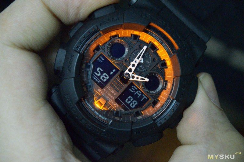 можно добиться, не работает подсветка на часах g shock нанесении
