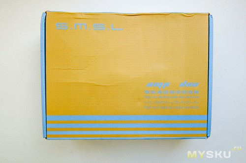 SMSL 1955+. «Фирменная» коробка