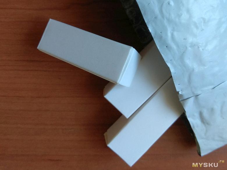Каждая лампа в индивидуальной упаковке