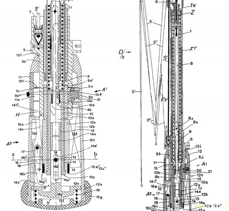 Схема зонт полуавтомат