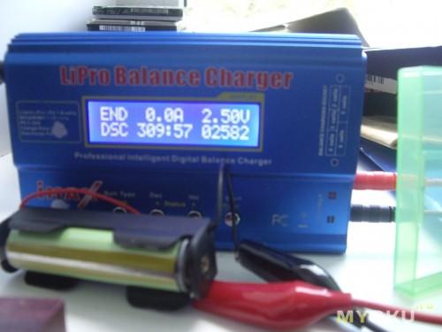 Вторя банка, заряд до 4.2v 1A, разряд до 2.50v 0.5A