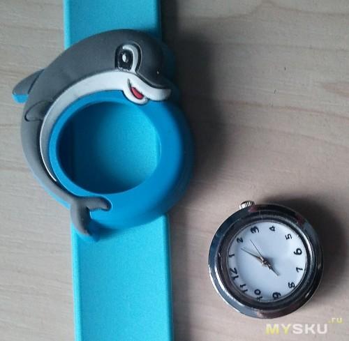 Часы вне силиконового корпуса