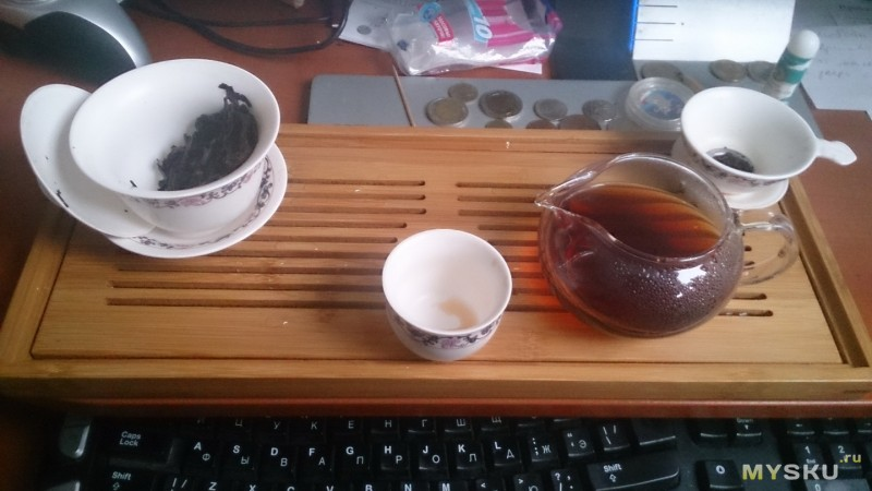 Flat Tray Bamboo Gongfu Tea Serving Table 40 16cm