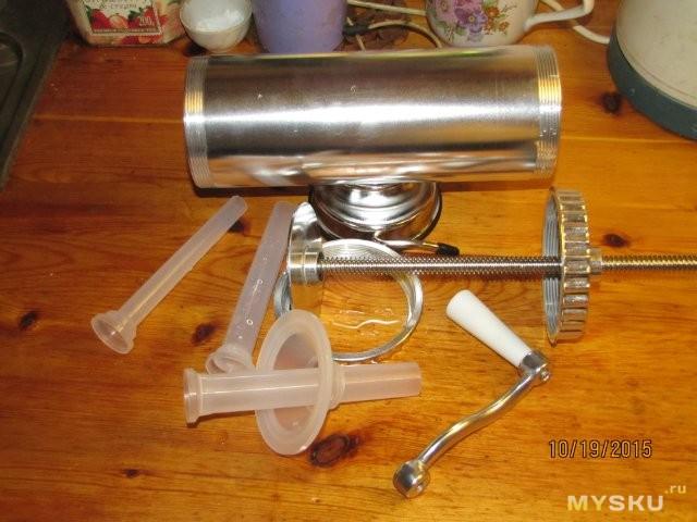 Как сделать шприц для набивки колбас своими руками