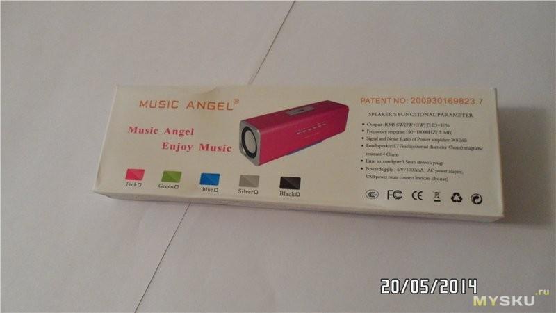 Инструкция к колонке music angel