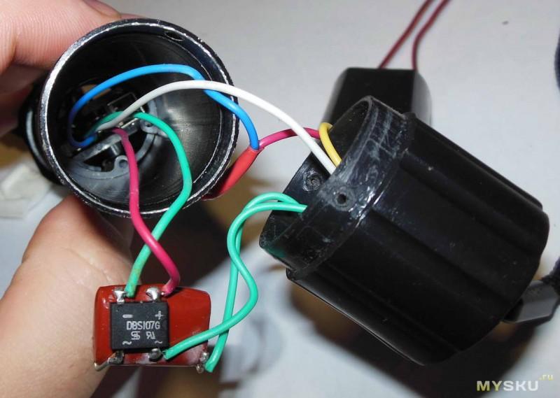 Схема фонарика-шокера