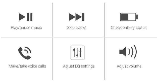 Контроль над музыкой и звонками