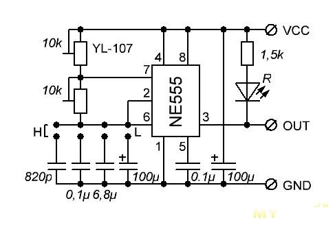Схема генератора 555 регулировкой частоты фото 858