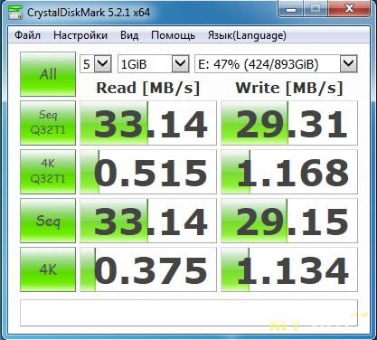 Второй 2-дюймовый диск, USВ 2.0 , Windows 7