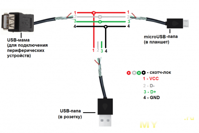 Схема распайки micro usb фото 519