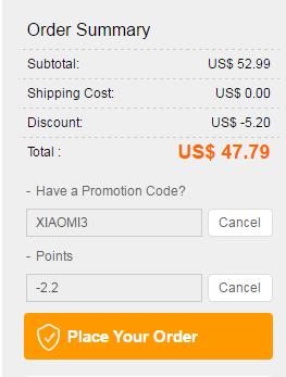 TomTop: Видеорегистратор Xiaomi Yi DVR за 47.79$ с купоном XIAOMI3 и поинтами.