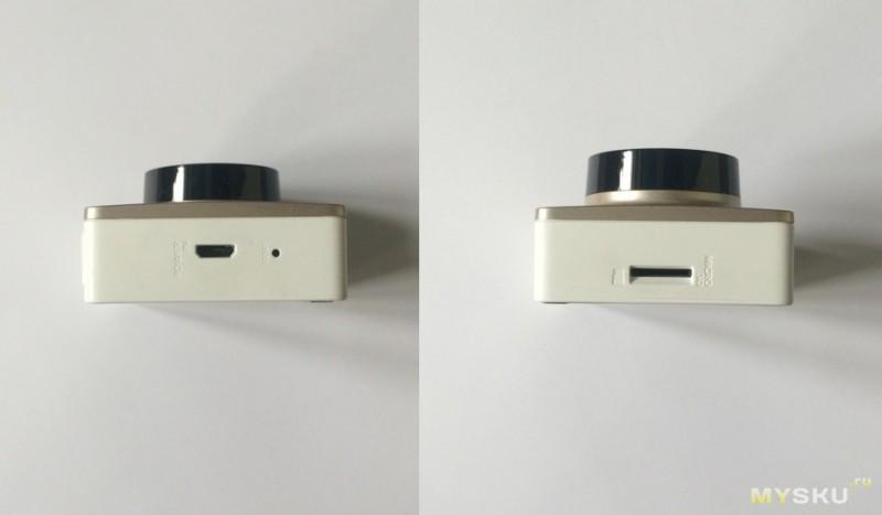 Micro usb разъём, и слот под micro sd карту памяти