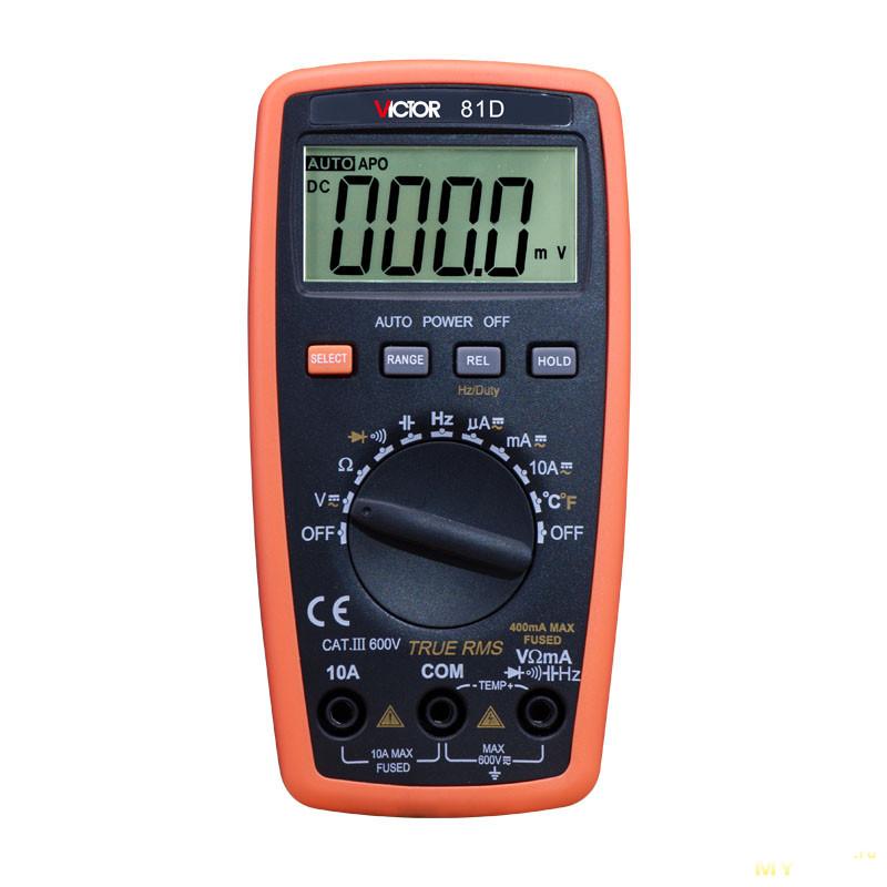 Мультиметр vc81d инструкция