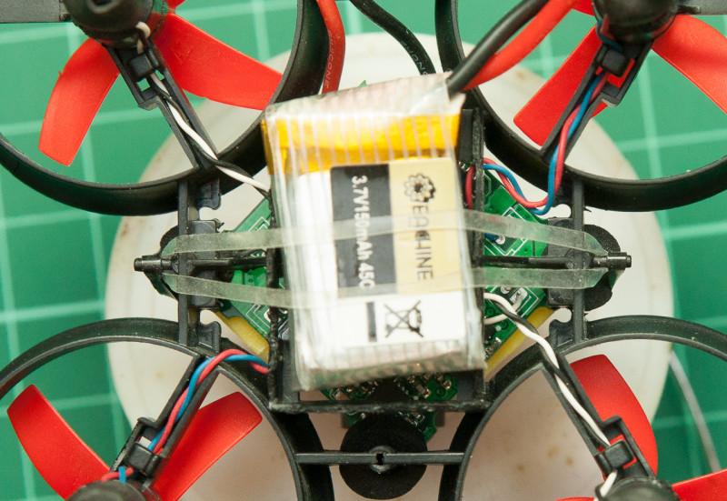 Крепление аккумулятора на резинке