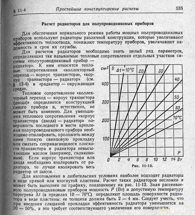 расчет радиатора охлаждения для светодиода калькулятор